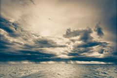 Seascape sea horizon and sky. Stock Images