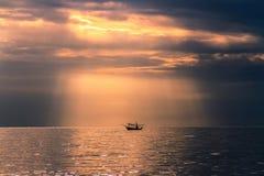 Seascape. Sea sunrise and Blue sky Royalty Free Stock Photography