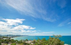 Seascapefrom Hua Hin view point, Thailand royalty free stock photo