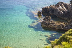 Seascape. Shore and blue sea in Elba Island Royalty Free Stock Image