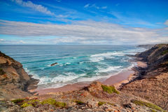 Seascape shore Vicentina. Royalty Free Stock Images