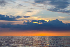 Seascape of Similand during sunset, lowkey, background Royalty Free Stock Photos