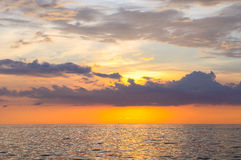 Seascape of Similand during sunset, lowkey, background Royalty Free Stock Photography