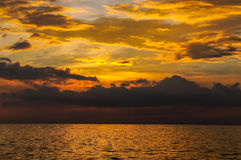 Seascape of Similand during sunset, lowkey, background Stock Photography