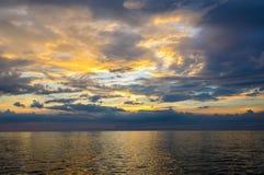 Seascape of Similand during sunset, lowkey, background Stock Photo