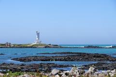 Seascape Sinchang wiatraczka wybrzeże fotografia stock