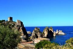 Seascape Skopello Royaltyfri Bild