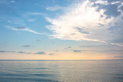 Seascape and sky at twilight time Royalty Free Stock Images