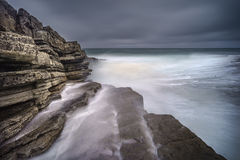 Seascape in slow motion, Ireland Stock Images