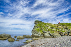 Seascape with small island Stock Photo