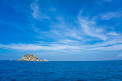 Seascape with small island Stock Photography