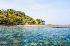 Seascape with small island, Thailand Royalty Free Stock Images