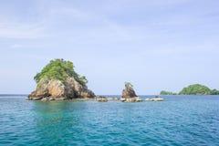 Seascape with small island, Thailand Stock Photos