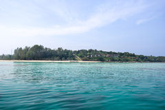 Seascape with small island, Thailand Stock Images