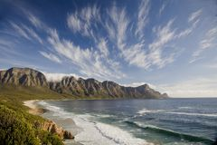 Seascape sobre a baía de Kogel perto de Cape Town Imagens de Stock Royalty Free