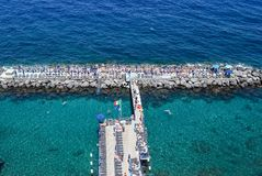 The Seascape in Sorrento, Italy. View of Seascape in Sorrento, Italy stock photography