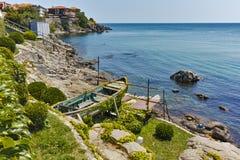 Seascape of Sozopol town and black sea, Bulgaria Stock Photo