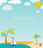 Seascape with space for text Stock Photography