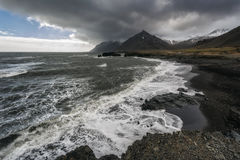 Seascape in the Stokknes area, Iceland Stock Photos