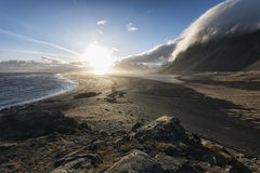 Seascape in the Stokknes area, Iceland Stock Images