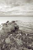 Seascape stones water Stock Image