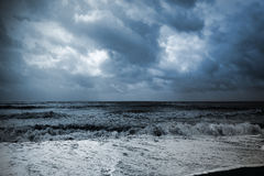 Seascape in a storm Stock Photo