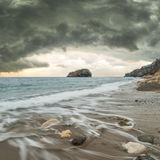 Seascape with stormy sky Royalty Free Stock Image