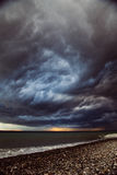 Seascape - stormy sky and raging sea Royalty Free Stock Photos