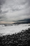 Seascape with stormy sky Royalty Free Stock Photos