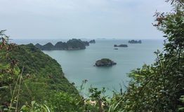 Seascape at sunny day in Ha Long, Vietnam Royalty Free Stock Images