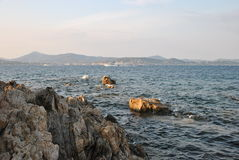 Seascape on a sunny day. In Saint-tropez Stock Image