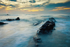 Seascape at sunrise Stock Photo