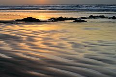 Seascape at sunrise Stock Images