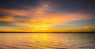 Seascape during sunrise. Stock Photo