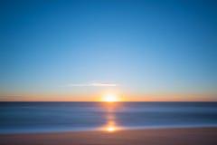 Seascape sunrise long exposure. Beautiful sunrise over the ocean Royalty Free Stock Photography