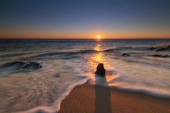 Seascape sunrise in New Jersey stock photos