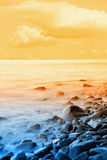 Seascape at sunrise Royalty Free Stock Photography