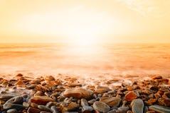 Seascape at sunrise Stock Image