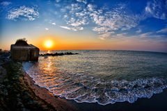 Seascape at sunrise Stock Photography