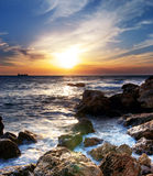 Seascape sunset. Composition of nature Royalty Free Stock Photography