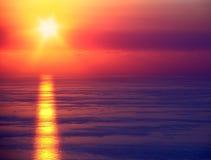 Seascape sunset Stock Image