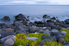 Seascape at sunset Stock Image
