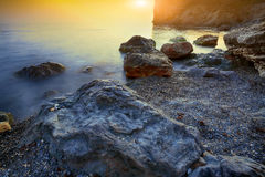 Seascape during sunset Stock Photography