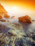 Seascape during sunset Royalty Free Stock Images