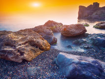 Seascape during sunset Royalty Free Stock Image
