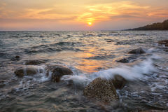Seascape sunset Stock Photos