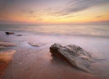 Seascape sunset. Royalty Free Stock Image