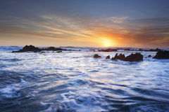 Seascape. At sunset in the eastern cape south africa Stock Photo