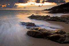 Seascape at sunset in Kalim beach, Phuket Stock Photography