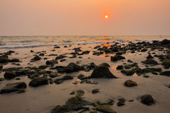 Seascape of sunset at Koh Chang Royalty Free Stock Photography